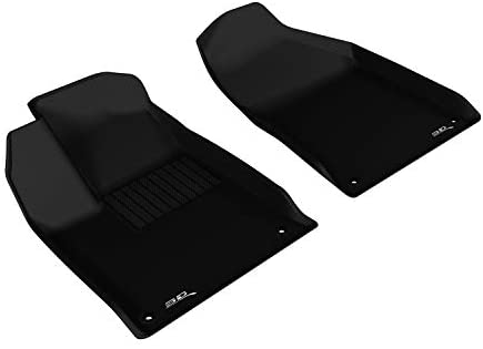 3D MAXpider Front Row Custom Fit All-Weather Floor Mat for Select Chrysler 200 Models – Kagu Rubber (Black)