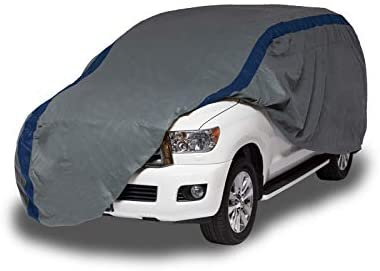 Duck Covers Weather Defender SUV Cover for SUVs/Pickup Trucks with Shell or Bed Cap up to 17′ 5″