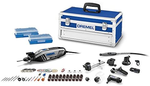 Read more about the article Dremel 4300-9/64 Rotary Tool Kit with Flex Shaft- 9 Attachments & 64 Accessories- Engraver, Router, Sander, and Polisher- Perfect for Grinding, Cutting, Wood Carving, Sanding, Engraving, and Routing