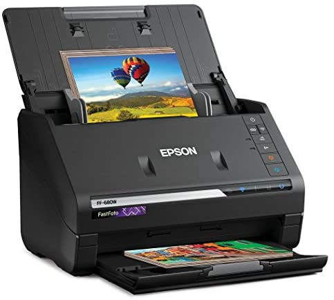 Epson FastFoto FF-680W Wireless High-speed Photo and Document Scanning System, Black