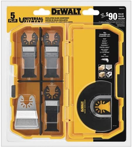 Read more about the article DEWALT Oscillating Tool Blades Kit, 5-Piece (DWA4216)