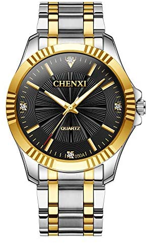 Read more about the article Fq-005 Classic Style Gold Stainless Steel Mens Wrist Watches with Crystals for Man