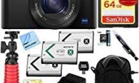 Sony Cyber-Shot DSC-RX100 III 20.2 MP Digital Camera with 1 Year Extended Coverage Plus 64GB Triple Battery Bundle