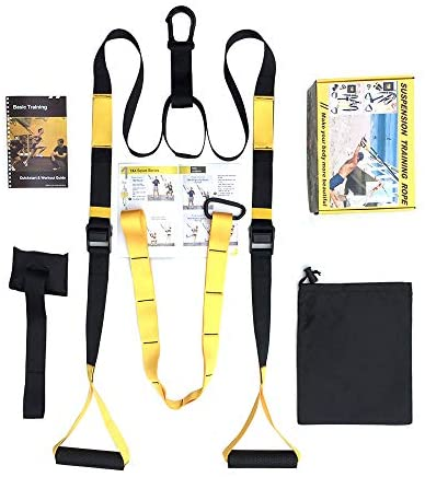 DIACLARA Bodyweight Fitness Resistance Kit Extension Strap for Door Pull Up Bar, Powerlifting Strength Training Kit Straps Home Gym Exercise Full-Body Workout Equipment (P-1 Yellow)