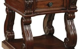 Signature Design by Ashley Alymere Square End Table Rustic Brown