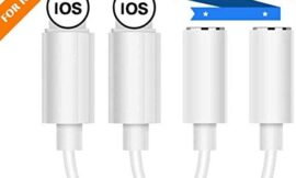 (2 Pack) Lighting to 3.5mm Headphones/Earbuds Jack Adapter Aux Cable Earphones/Headphone Converter Accessories Support iOS 12/11-Upgraded Compatible with iPhone Xs MAX/XR/X/8/8 Plus/7/7 Plus/ipad/iPod