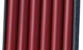 Colonial Candle Classic Unscented Tapered Candles, Box Set of 12, Cranberry, 10-inch