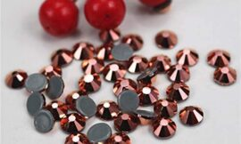 Xuccus DMC Rose-Gold New Color SS6 to SS30 Crystal Glass Stones Glue On Crystal Stones for Clothing Shoes Bags – (Size: SS6 (2MM) 1000gross)