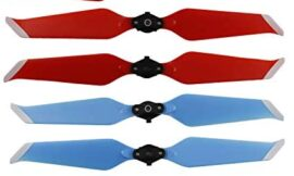 Helistar Propellers for DJI Mavic 2 Pro/Mavic 2 Zoom Accessories Foldable Low-Noise 8743F Props Quick-Release CW CCW Blades 4 Pairs (Red+Blue)