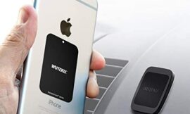 WUTEKU Flat Magnetic Cell Phone Holder Kit for Car – Works on All Vehicles, Phones and Tablets – Compatible with iPhone XR XS X 8 7 Plus and Galaxy S10 S9 S8 by Pro Driver
