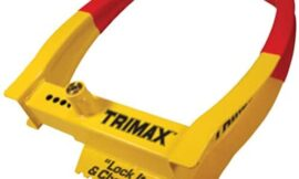 Trimax Deluxe Universal Wheel Chock Lock Dual Action Design-Chocks & Locks The Wheel TCL75, Blister Packaging