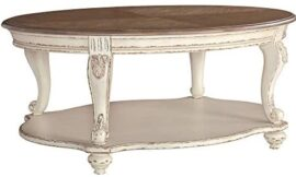 Signature Design by Ashley – Realyn Coffee Table, White/Brown Wood