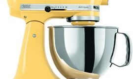 KitchenAid KSM150PSMY Artisan Series 5-Qt. Stand Mixer with Pouring Shield – Majestic Yellow