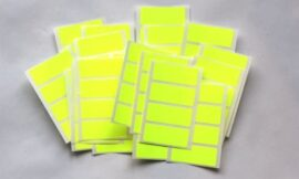 80 Fluo Yellow Stickers – Sticky Coloured Self Adhesive Labels for Colour Coding