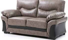 Glory Furniture Vince Love seat, Gray. Living Room Furniture, 35″ H x 60″ W x 30″ D