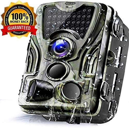 Trail Game Camera 16MP 1080P Waterproof Hunting Scouting Cam for Wildlife Monitoring with 120°Detecting Range Motion Activated Night Vision 2.4″ LCD IR LEDs (Camouflage)