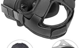 HIJIAO Head Strap Pad&Silicone Face Cover for Oculus Quest Headset,Cushion Pad for Oculus Quest Accessories, Reduce Head Pressure Better Wrapped Head(As Shown)