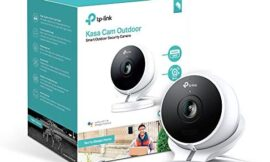 Kasa Cam Outdoor by TP-Link – 1080p HD, Built-in Siren, Stream Anywhere, Works with Alexa Echo and Google Assistant (KC200) – White, Black
