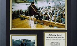 Legends Never Die Johnny Cash at Folsom Prison Collectible   Framed Photo Collage Wall Art Decor – 12″x15″