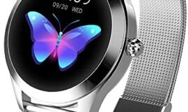 SBEN Smart Watches Women Round Touch Screen IP68 Waterproof Smartwatch Women's Period Fitness Tracker with Heart Rate & Sleep Pedometer iOS/Android