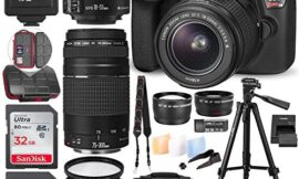 Canon EOS Rebel T6 DSLR Camera W/EF-S 18-55mm f/3.5-5.6 is II Lens – 75-300mm Lens, 2X 32GB Along with Deluxe Accessories Bundle