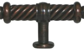 100 Pack Oil Rubbed Bronze Kitchen Cabinet Hardware Flute Handle Pull Knobs 3-3/8 Inch (93mm)