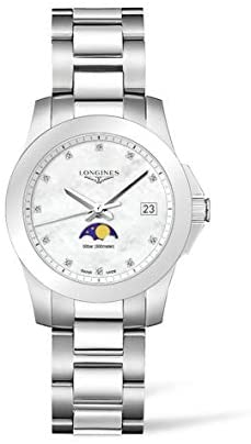 Longines Conquest Diamond White Mother of Pearl Dial Ladies Watch L3.381.4.87.6