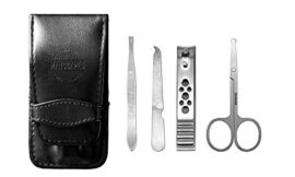 Manscaped The Shears Stainless Steel Men's Nail Kit, Fingernail Clippers, Travel Manicure Set, 5-Piece Luxury Men's Grooming Kit