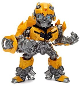 Jada Toys Metalfigs Transformers: The Last Knight Bumblebee (M408) Metals Die-Cast Collectible Toy Figure, 4″, Yellow