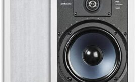 Polk Audio RC85i 2-way Premium In-Wall 8in Speakers, Pair of 2 Perfect for Damp and Humid Indoor/Outdoor Placement – Bath, Kitchen, Covered Porches (White, Paintable Grille) (Renewed)