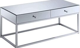 Convenience Concepts Reflections Coffee Table, Mirror / Silver