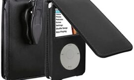 V-TOP Leather Case for Apple iPod Video Classic 80G 120G 160G 60G Classic Protective with Movable Belt Clip Black
