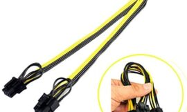 Glumes 25cm PCI-e 8pin to Dual 8Pin / PCIe 8pin-2x(6+2pin) Graphics Video Card Power Cable, 18AWG Wire
