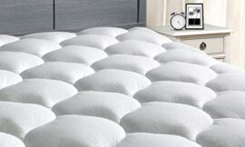 """MASVIS King Mattress Pad Cover 8-21""""Deep Pocket – Pillow Top Quilted Mattress Topper Overfilled Snow Down Alternative"""