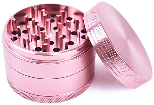2.5 Inch 63 mm Pink Rose Gold Aluminum CNC Manual Easydry Spice Mill Herb Herbal Grinder Crusher