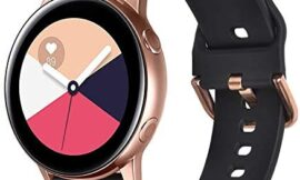 VIGOSS Strap Compatible with Galaxy Active 2 40mm/44mm Bands/Galaxy Watch 42mm Band 20mm Soft TPU with Rose Gold Buckle Replacement for Samsung Galaxy Watch 42mm/Active 2 40mm/44mm Sunflower