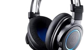 Audio-Technica ATH-G1WL Premium Wireless Gaming Headset for Laptops, PCs, Macs, 2.4GHz, 7.1 Surround Sound Mode, USB Type-A, Black, Adjustable