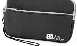 DURAGADGET Black Soft Neoprene Pouch – Compatible with Sumvision Cyclone 7 Inch Tablet & Hyundai T7S Quad Core MID Tab