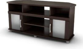 """City Life Corner TV Stand – Fits TVs Up to 50"""" Wide – Chocolate – by South Shore"""