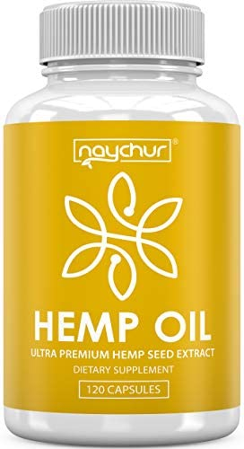 Hemp Oil Capsules – Best Natural Pure Hemp Seeds Extract for Pain Relief Anti Anxiety Anti Inflammatory Stress Sleep Support Raw Herbal Supplements Omega 3 6 9 – Non GMO 120 Capsules