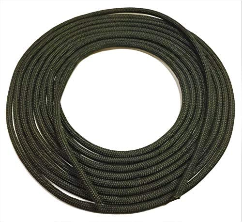 Black Tactical Paracord ~ Strong UV Resistant 7 Strand 550 Para-Cord | For Hiking, Camping, Survival, Bracelets, Lanyands, Crafting, Keychains, Hanging & Securing Items (10 ft length 1/8″ in Diameter)