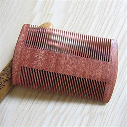 WXNUH Wood Comb Pocket Double Sided Carved Sandalwood Comb for Women Men Hairs Detangling Grooming
