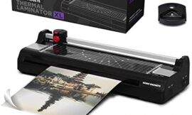 Professional 6-in-1 A3 Laminator Machine | GoGo Gadgets Heavy Duty XL Lamination Machine with 25 Laminating Sheets | for Home Office Or School Use (Black, Up to 13″ Width | Tabloid & Ledger | A3)