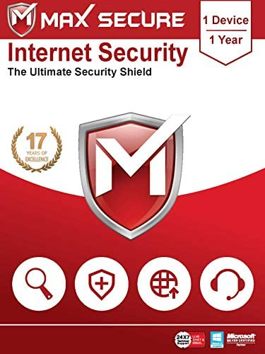 Max Secure Software Internet Security for PC 2019   Antivirus   1 Device   1 Year (Activation Key Card)