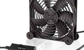 KOTTO Big Airflow 120mm Fans DC 5V Powered Fan with AC 110V – 240V Speed Control, Cabinet Chassis Cooling Fan, Server Workstation Cooling Fan