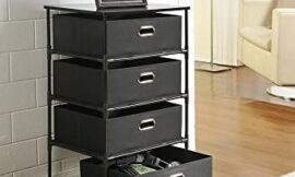 Ameriwood Home Sidney 4 Drawer End Table, Black