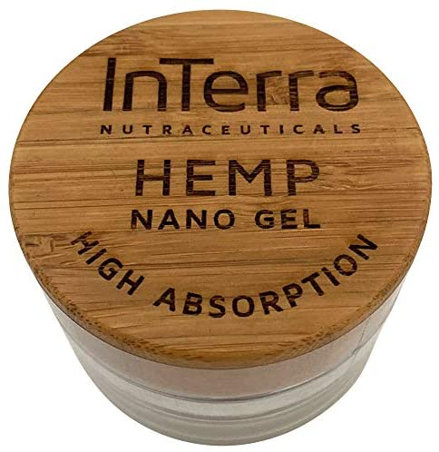 InTerra Nutraceuticals Hemp Nano Gel, Organic Pain Reliever with Hemp Extract for Joint, Knee, Back, Muscle Pain Relief, High Absorption and Opioid-Free Formula