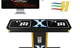 TAPDRA 3A Original Pandora's Box 6 Vintage Retro Arcade Cabinet Machine with 1300 Games for 2 Players Full-Size Commercial Wooden Console, Support Add Games and FBA MAME PS1 (with Coin Function)