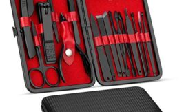 Manicure Set, Pedicure Kit, Nail Clippers, Professional Grooming Kit, Nail Tools 18 In 1 with Luxurious Travel Case For Men and Women 2020 Upgraded Version