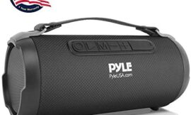 Wireless Portable Bluetooth Boombox Speaker – 200 Watt Rechargeable Boom Box Speaker Portable Music Barrel Loud Stereo System with AUX Input, MP3/USB/SD Port, Fm Radio, 4″ Tweeter – Pyle PBMSPG1BK